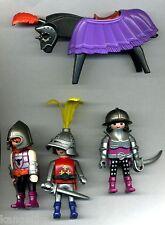 Playmobil--Ritter-3 Stück --Mit Waffen-1 Pferd mit Schabracke und Sattel-Konvolt
