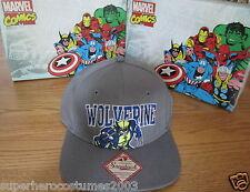 Wolverine X-Men Days of Future Past Adjustable Hat Marvel Comics Brand New -Gray