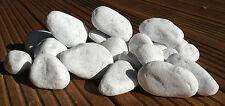 Galets blanc décoratifs pour cheminée BIO ETHANOL (x20) résistant à la chaleur