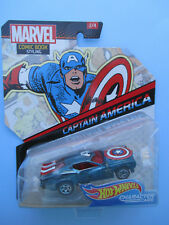 HOTWHEELS MARVEL CHARACTER CARS *CAPTAIN AMERICA* COMIC BOOK STYLING DOTTED CAR