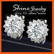 Unbranded Crystal White Gold Plated Hoop Fashion Earrings