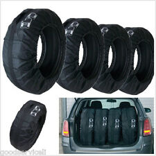 One Set Portable Black Car SUV Tyre Tire Seasonal Storage Bags Carry Covers Tool