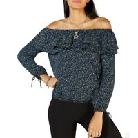 MICHAEL KORS NEW Women's Ruffled Off-the-shoulder Blouse Shirt Top TEDO