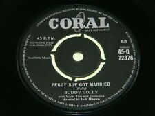 BUDDY HOLLY and THE CRICKETS : Peggy Sue got married -1960's round centre EX 201