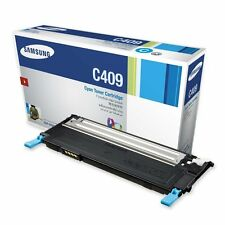 Genuine Samsung CLT-C409S 1000 Yield Cyan Toner Cartridge for CLP-315, CLP-315W