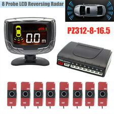 12V 8-probe Parking Sensor Dual-core Double LCD Display Car SUV Alarm System Kit