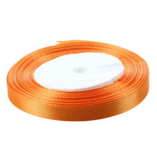 "3/8"" 10mm 25 Yards raso Nastro Party rotolo di nozze decorazioni arancione I4P8"