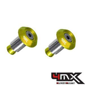 4MX Aluminium Gold 14mm Bar End Plugs fits Husqvarna 310 TE 2009-2010