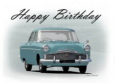 Ford Zodiac Mk2 21st 40th 50th 60th Classic Car Birthday Greetings Card