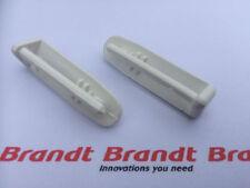 2x GENUINE Brandt Dishwasher Cutlery Basket Rail REAR END CAP (PAIR)