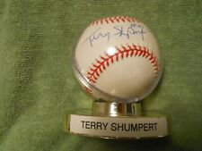 TERRY SHUMPERT AUTOGRAPHED SIGNED BASEBALL Colorado Rockies Rays Padres Cubs Sox