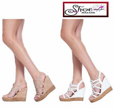 Strappy, Ankle Straps Standard (B) Floral Heels for Women