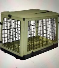 """Brand New Sage Deluxe Pet Gear 42"""" Steel Crate With Pad"""
