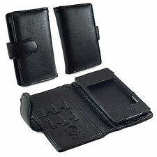 TUFF LUV Faux Leather Wallet Style Case Cover for Cowon Plenue J - MP3 - Black