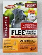 Flee Plus Igr Spot on Dog Flea Control. 89-132 Pounds. Contains a 3 Month Supply
