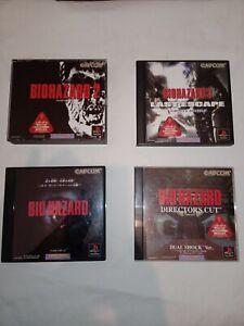 Resident Evil  1 2 3 & Director's Cut   for ps1  Jap version