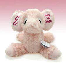 Personalized Stuffed Animal Birth Announcement Elephant Birth Stats Plush Baby G