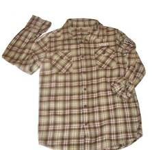 Ruff Hewn Flannel LS Cotton Button Down Boys Casual Plaid Shirt M 10-12