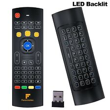 Favormates Air Remote Mouse MX3 Pro 2.4G Backlit Kodi Remote Control Mini Wir...