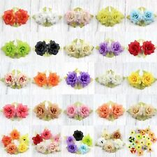 30Pc 5.5cm  Fake Leaf rose Artificial Silk Flower Heads Bulk Craft Wedding Decor