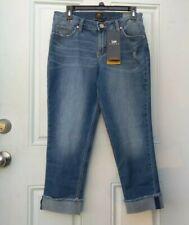 LEE Riders Womens Mid-Rise Boyfriend Blue Denim Jeans Size 6
