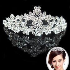 Women Butterfly Tiara Rhinestone Jewelry Crown Headband Wedding Bridal Party US