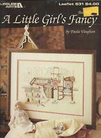 A LITTLE GIRL'S FANCY Book 15 ~ Paula Vaughan Cross Stitch Leaflet LA #631