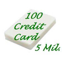 100 Credit Card Laminating Pouches Laminator  2-1/8 x 3-3/8 5 Mil Scotch Quality