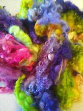 Border Leicester, Spinning Fiber, Felting Fiber, Hand Dyed Wool Roving