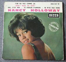 Nancy Holloway, t'en va pas comme ça, EP - 45 tours