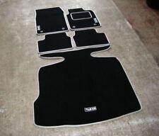 Black/Silver Car Mats - Vauxhall Vectra C (02-09) + Boot Mat + Silver SRI Logos