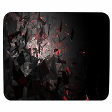 Black 3D Art Gaming Antiskid Rectangualar Mousemat Rubber Mousepad For Laptop