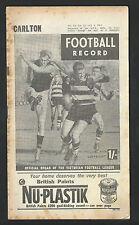 1964 VFL Record R 13 July 4th Carlton v Geelong  Cats