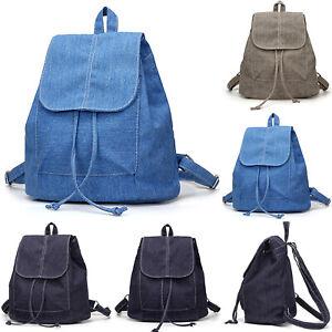 Womens Ladies Mini Denim Backpack Small Travel Shoulder Rucksack Girl School Bag