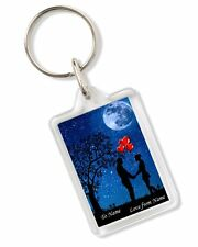Personalised Romantic Love Keyring Ideal Birthday Valentines Day Gift AK344