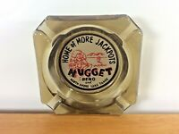 Vintage Nugget Casino Reno North Shore Lake Tahoe Nevada Smokey Glass Ashtray