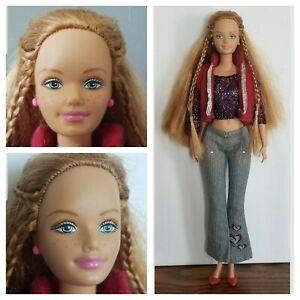 Mattel Barbie Friend Happy Family Midge 2002 Doll Gold Brown Hair Blue Eyes...