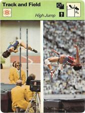 1977 Sportscaster Card Track and Field High Jump # 11-01 NRMINT.
