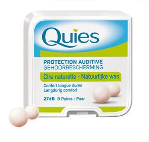 High quality Quies Boules - Wax Earplugs - Long lasting comfort - pack of 8 pair
