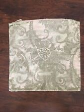 """Pottery Barn Tonal Green Scarlett Printed Velvet Pillow Cover 22"""""""