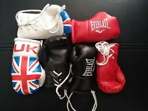 3 x EVERLAST MINI BOXING GLOVES FOR THE REAR VIEW MIRROR OF YOUR CAR