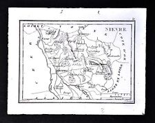 1833 Perrot Tardieu Map - Nievre - Nevers Chateau Chinon Clamecy Cosne - France