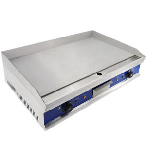Commercial Electric Griddle Hotplate Flat Grill Hot Plate Large Countertop 4400W