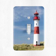 Lighthouse Light Switch Cover Plate Duplex Outlet Beach Ocean Sunset New