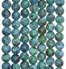 8MM BLUE GREEN MATTE JADE GEMSTONE ROUND LOOSE BEADS 15