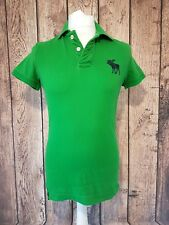 Mens Abercrombie Fitch Polo Shirt Muscle Fit Small Green 38 Chest