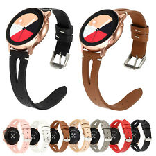 Sport Leather Band for Samsung Galaxy Watch 42mm 46mm Active 2 40mm 44mm Strap