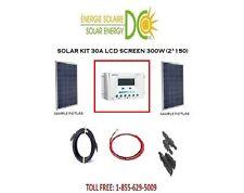 Solar Panel KIT Panneau Solaire 300 Watt POLY 2 * 150 W 30A 12V MC4 RV CABIN