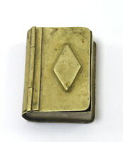 Collective Book Shape Brass Trinket Box – Vintage Match Safe Vesta Box G7-960 AU
