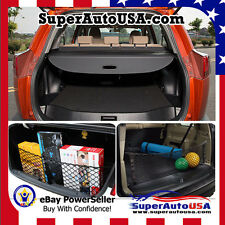For 13- 18 TOYOTA RAV4 REAR TRUNK BLACK OE STYLE RETRACTABLE CARGO COVER AND NET